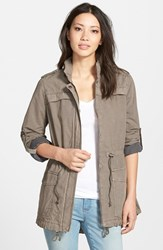 Women's Levi's Lightweight Cotton Hooded Utility Jacket Grey