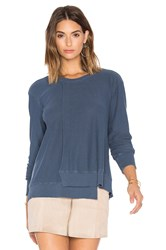 Wilt Seamed Long Sleeve Sweatshirt Blue