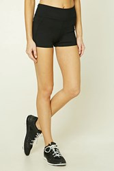 Forever 21 Active Stretch Knit Shorts Black