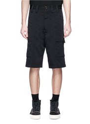 Song For The Mute Detachable Rope Cargo Shorts Black