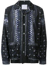 Sacai Tribal Lace Shirt Black
