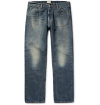 Simon Miller M004 Wide Leg Washed Denim Jeans Blue