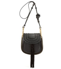 Chloe Hudson Mini Embellished Leather Shoulder Bag Black