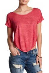 Young Fabulous And Broke Wing Linen Tee Red