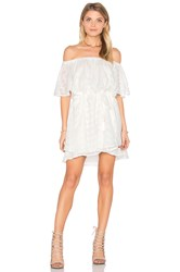Finders Keepers Ascot Ruffle Dress White