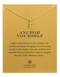 Dogeared Reminder Anchor Yourself Sterling Silver Pendant Necklace Gold