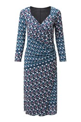 James Lakeland Rose Print Dress Blue