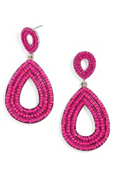 Baublebar Women's Fifi Drop Earrings Bright Pink