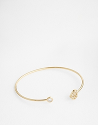 Asos Limited Edition Open Heart Cuff Bracelet Gold
