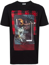 Christian Dior Homme Collage Print T Shirt Black