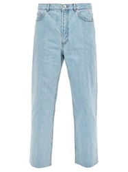 A.P.C. Alan Raw Hem Straight Leg Jeans Blue