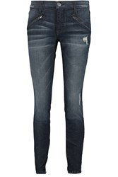 Current Elliott The Silverlake Zip Low Rise Skinny Jeans Blue