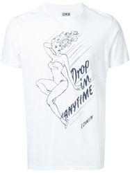 Edwin Pin Up Print T Shirt White