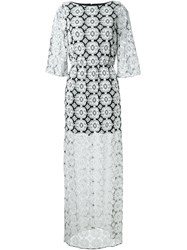 Alice Olivia Alice Olivia Lace Overlay Maxi Dress White