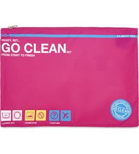 Flight 001 Go Clean Travel Set Pink
