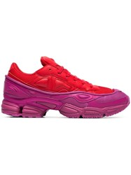 Raf Simons Adidas By Red And Pink Ozweego Leather Sneakers