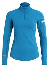 Gore Running Wear Air Lady Long Sleeved Top Ink Blue Turquoise