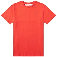 Off White Unfinished 3M Arrows Slim Tee Red