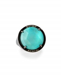 Bavna Sleeping Beauty Turquoise And Champagne Diamond Ring Size 7