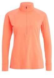Under Armour Zinger Long Sleeved Top London Orange Rhino Gray Coral