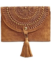 Patricia Nash Distressed Vintage Colli Wallet Cognac