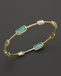 Ippolita 18K Gold Rock Candy Gelato 8 Stone Bangle In Sailor