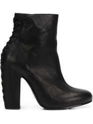 Vic Matie Rear Lace Up Heel Boots Black