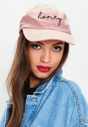 Missguided Pink Washed Honey Cap