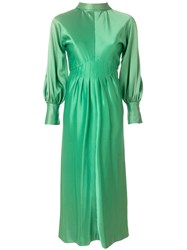 A.N.G.E.L.O. Vintage Cult Pleated Longsleeved Gown Green