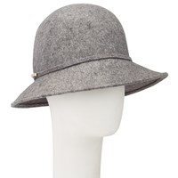 John Lewis Mini Floppy Wool Felt Hat Grey