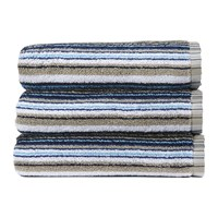 Christy Barcode Stripe Towel Blue