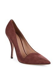 Giorgio Armani Horn Stiletto Suede Pumps Brown