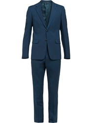 Prada Slim Fit Two Piece Suit Blue