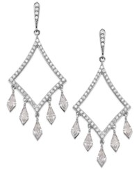Arabella Swarovski Zirconia Dangle Drop Earrings In Sterling Silver 3 5 8 Ct. T.W.