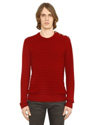 Balmain Cashmere And Wool Sweater With Buttons