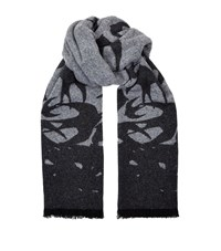 Mcq By Alexander Mcqueen Swallow Reversible Scarf Unisex Grey