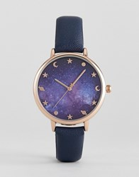 Asos Galaxy Print Watch Navy