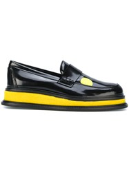Joshua Sanders Platform Loafers With Print Calf Leather Leather Black