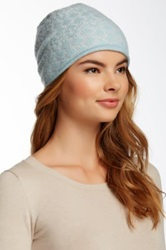 14Th And Union Graphic Pointelle Slouchy Cashmere Beanie Multi