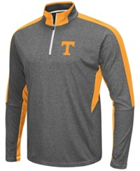 Colosseum Men's Tennessee Volunteers Atlas Quarter Zip Pullover Charcoal Tennessee Orange