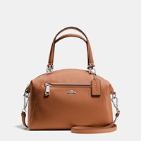 Coach Prairie Satchel In Pebble Leather Silver Saddle
