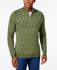 Tommy Bahama Men's Diamond Cable Knit Sweater Palm Frond