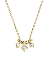Zoe Chicco 14K Yellow Gold Necklace With Bezel Set Diamonds 15