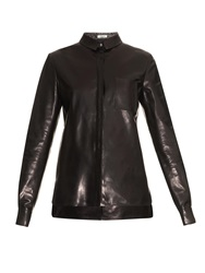 Thierry Mugler Long Sleeved Leather Shirt