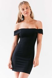 Silence And Noise Structured Off The Shoulder Bodycon Mini Dress Black