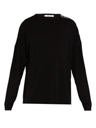 Givenchy Logo Tape Crew Neck Wool Sweater Black