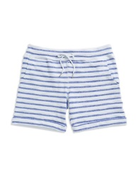 Calvin Klein Boucle Striped Shorts White Blue Violet