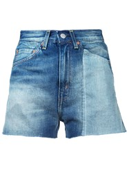 Levi's Vintage Clothing High Waisted Denim Shorts Women Cotton 26 Blue