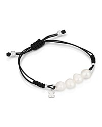 Tous Knotted Pull Tie Bracelet Pearl