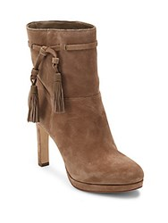 Via Spiga Almond Toe Ankle Boots Dark Taupe